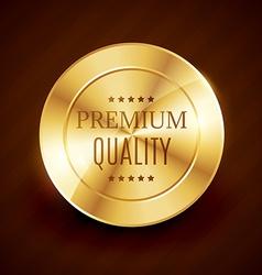 Premium quality golden button design vector