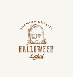 Premium quality halloween party logo or label vector