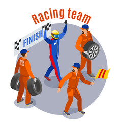 racing sports composition vector image