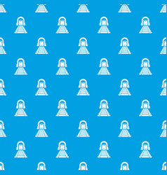 Railway tunnel pattern seamless blue vector