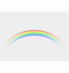 rainbow with limpid section edge isolated on vector image