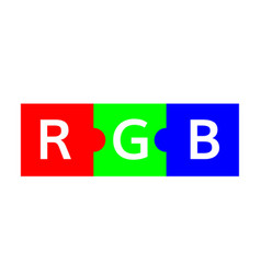 Rgb color scheme puzzle vector