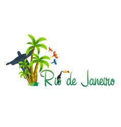 Rio de jeaneiro logo travel in brasil south vector