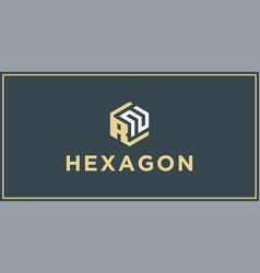 Rn hexagon logo design inspiration vector