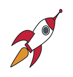 rocket startup launch innovation strategy vector image