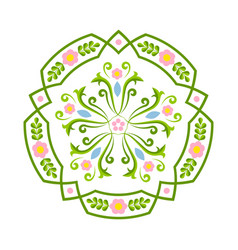 Rosemaling floral ornaments in traditional vector