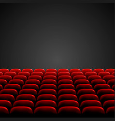 rows red cinema or theater seats in front of vector image