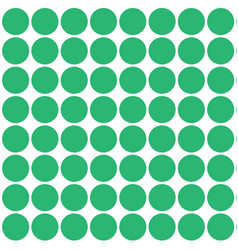 Seamless circles in green color arranged in rows vector