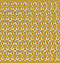 Seamless pattern with islamic ornament vector