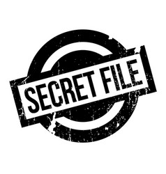 Secret file rubber stamp vector
