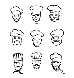 Set of different restaurant chefs vector image