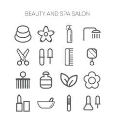 Set of simple icons for beauty spa salons web vector