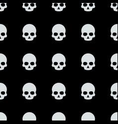 Skull halloween pattern vector