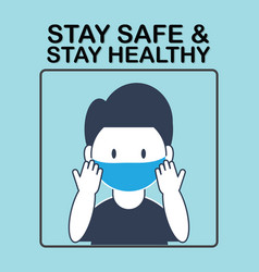 Stay safe stay healthy banner vector