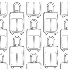 Suitcases black and white seamless vector
