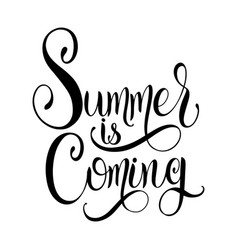 Summer is coming lettering vector