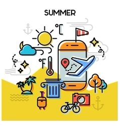 Summer line banners vector