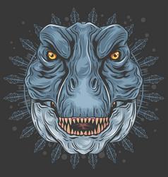 t rex mandala vector image