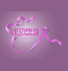 Testicular cancer awareness calligraphy poster vector