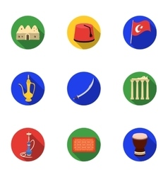 Trash and garbage set icons in flat style Big vector
