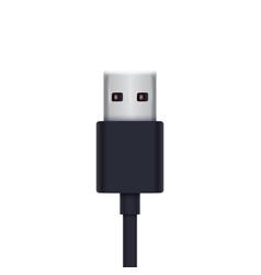 usb plug vector image