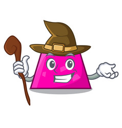 Witch trapezoid mascot cartoon style vector