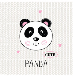 With cute panda vector