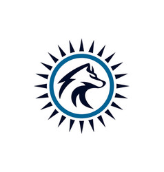 Wolf abstract logo concept icon vector