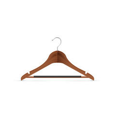 wooden coat hanger vector image