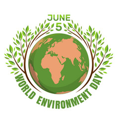 World environment day concept june 5th vector