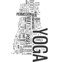 Yoga for every body text word cloud concept vector