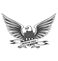 american bald eagle emblem vector image