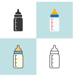 baby milk bottle in various design vector image vector image