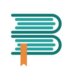 book logo design vector image