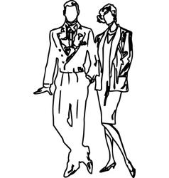 Boys and Girls Couples vector image vector image