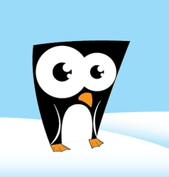cute penguin character vector image vector image