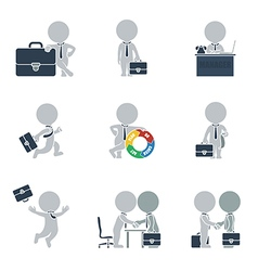Flat people business vector image