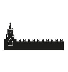 Kremlin silhouette vector image