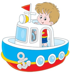 Little seaman vector image vector image