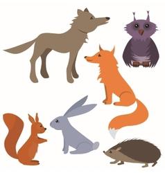 Set with wild animals vector image