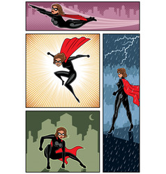 super heroine banners 6 vector image