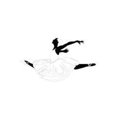 ballerina in a jump vector image vector image
