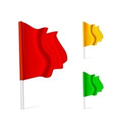 Flag fluttering in the wind vector image