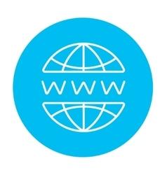 Globe internet line icon vector image