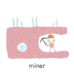 miner found a gem vector image