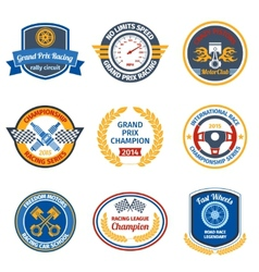 Racing emblems colored vector image vector image
