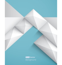 Realistic geometrical background with pyramids vector image vector image