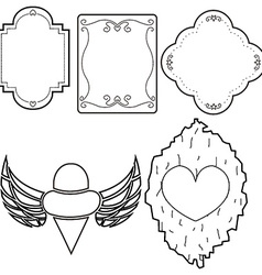 label lined pattern set vector image vector image