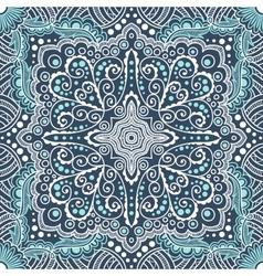 seamless blue pattern of spirals swirls vector image