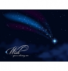 wish upon a shooting star vector image vector image